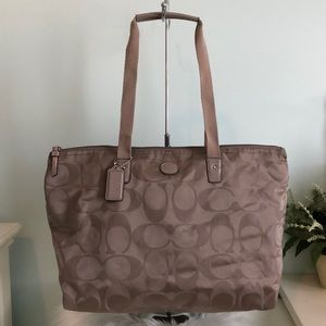 COACH Large Sateen Shopper Tote Shoulder Bag